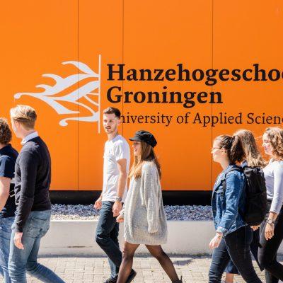 Studenten voor Hanzehogeschool Groningen